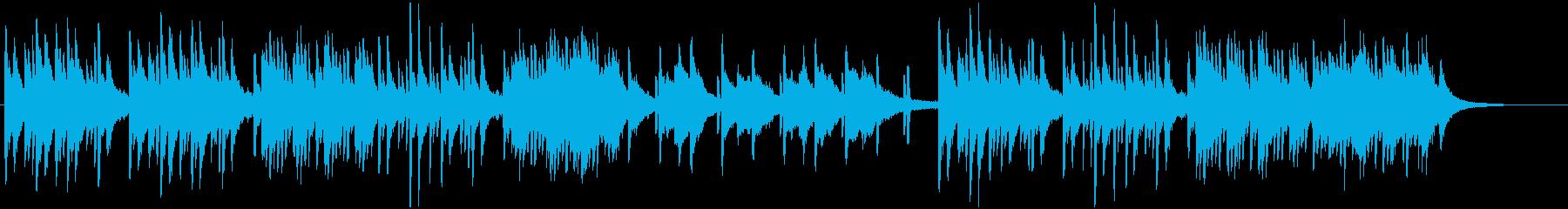 切ないピアノのLo-Fi、チルホップの再生済みの波形