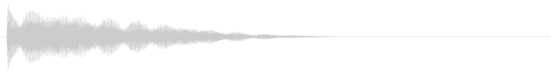 マレット系 決定音01(複)の未再生の波形