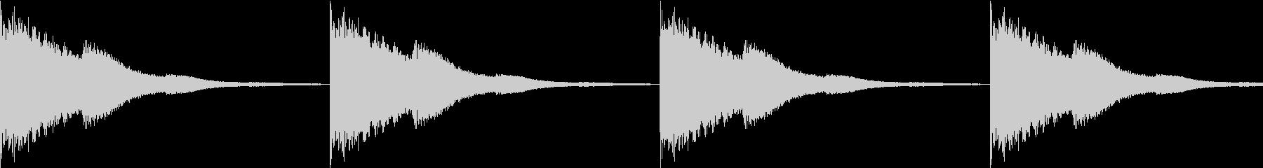 【ループ仕様】館にある鐘の音の未再生の波形