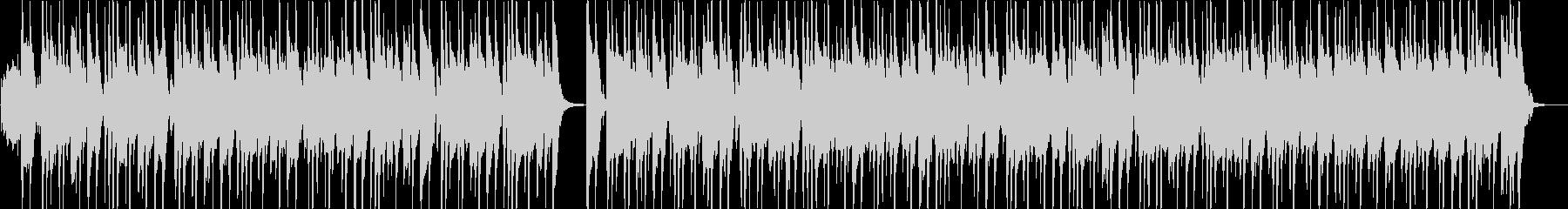 ピアノとバンドサウンドの軽快な曲の未再生の波形