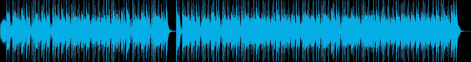 ピアノとバンドサウンドの軽快な曲の再生済みの波形