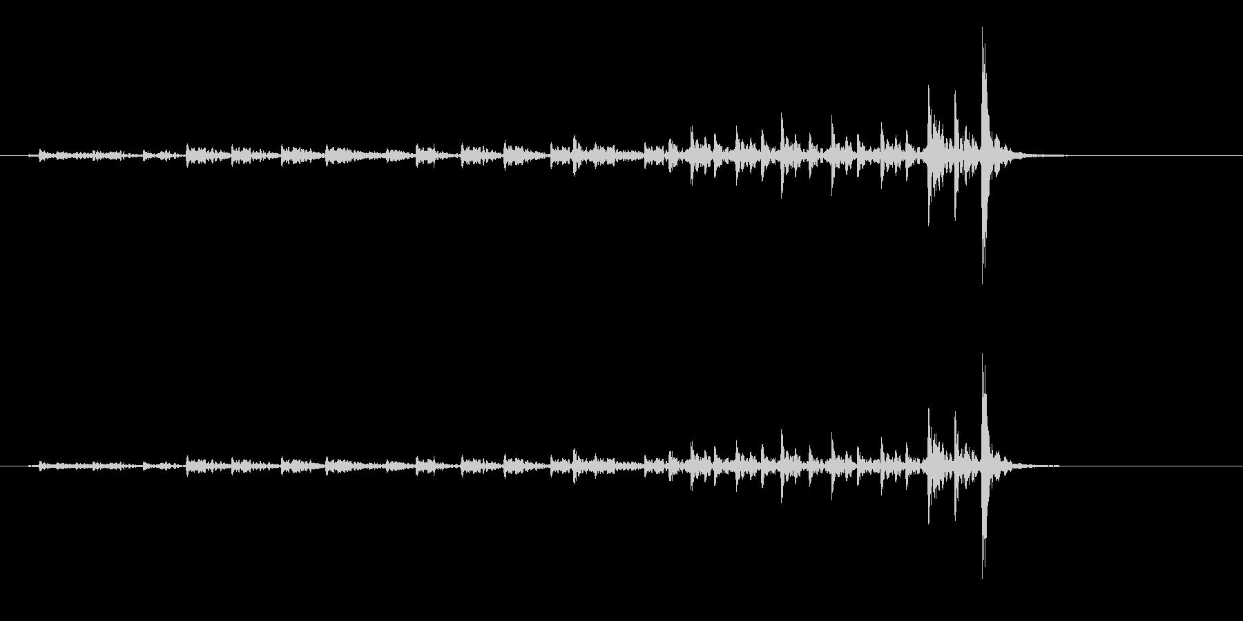 和太鼓の桶胴(おけどう)のフレーズ音の未再生の波形