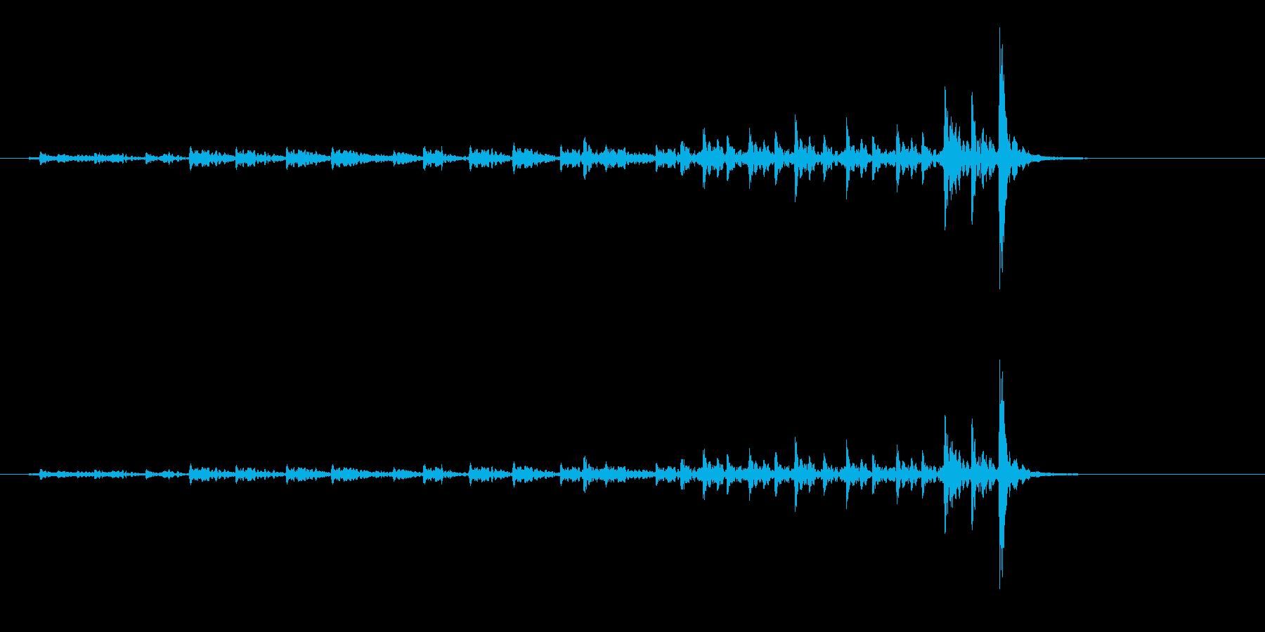 和太鼓の桶胴(おけどう)のフレーズ音の再生済みの波形