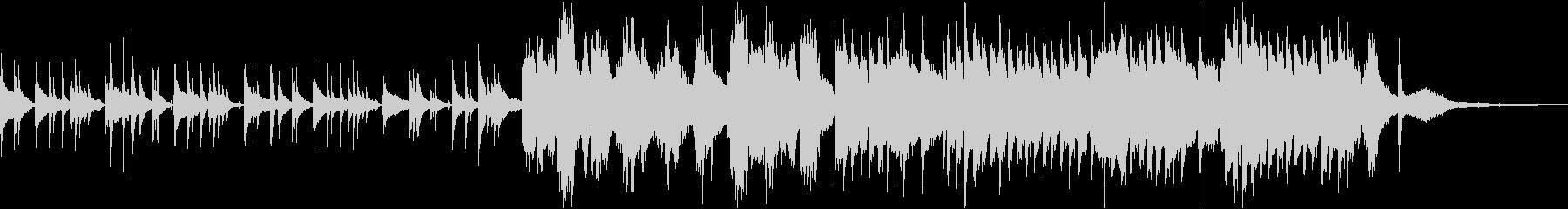 ピアノとヴァイオリンの切ない桜バラードの未再生の波形