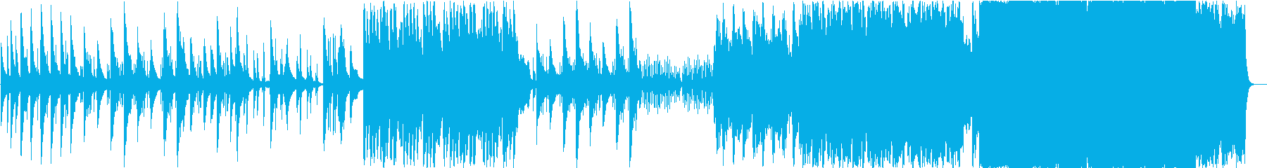 徐々に盛り上がりを見せるキレイめバラードの再生済みの波形