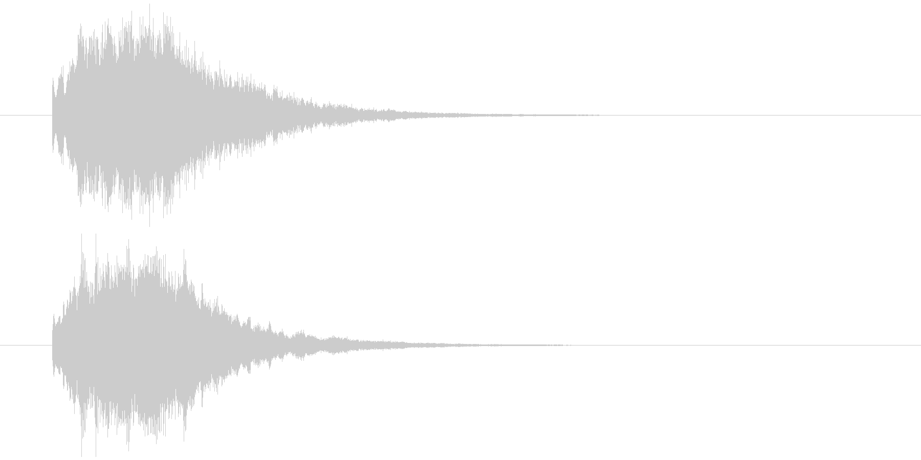 IT系効果音。2の未再生の波形
