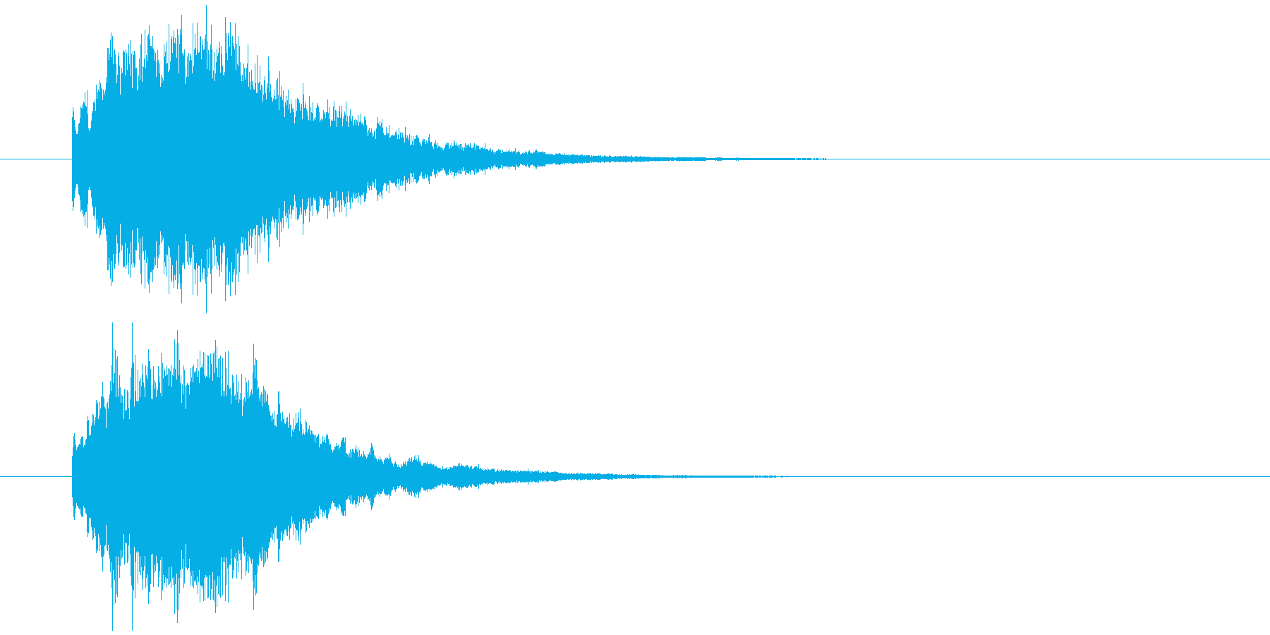IT系効果音。2の再生済みの波形