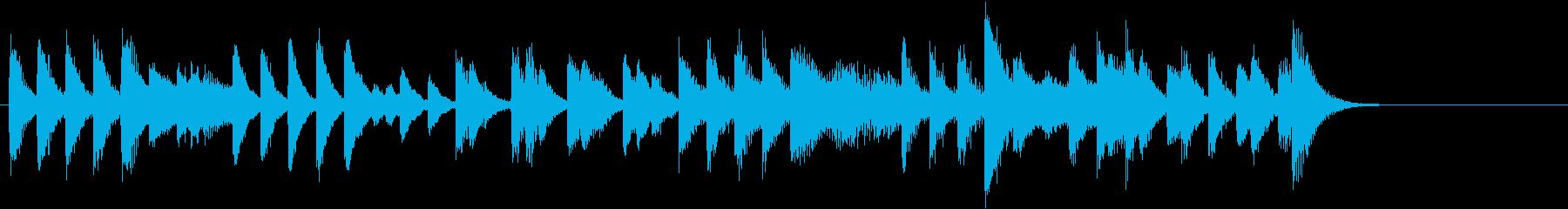 節分に!豆まきモチーフピアノジングルAの再生済みの波形