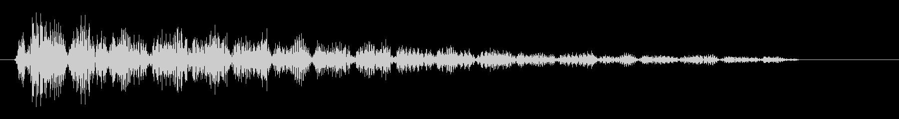 ピロピロリ(クリック音)の未再生の波形