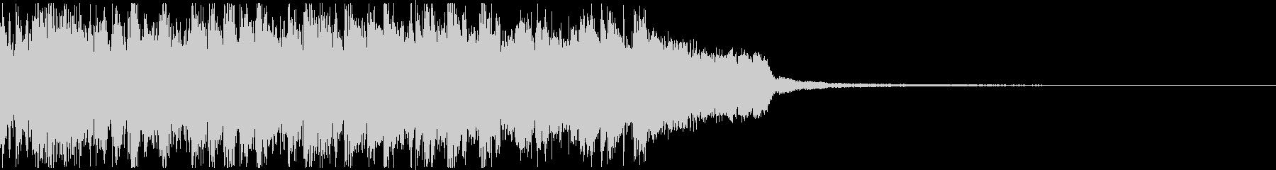 フルートの旋律が印象的な爽やかボサノバの未再生の波形