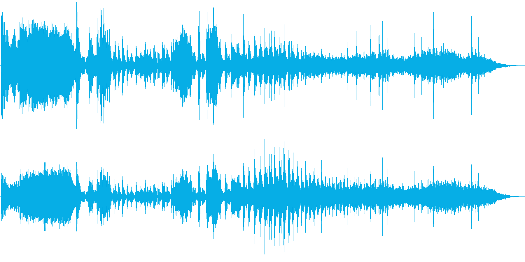 蒸気機関車の汽whiと出発の再生済みの波形
