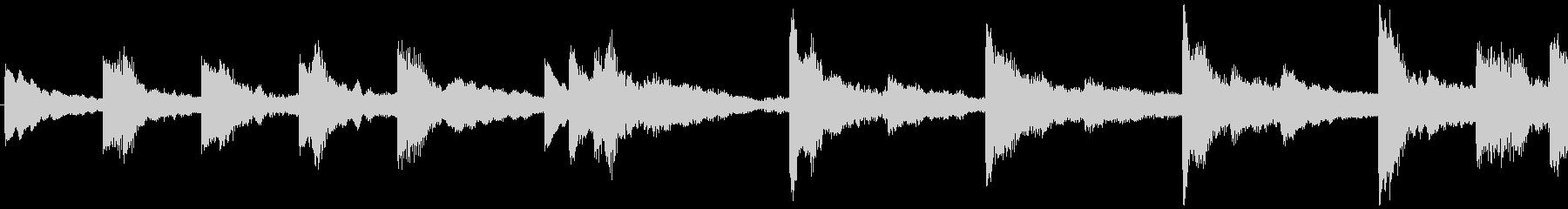 ハローウィン用のホラー曲-ループ1の未再生の波形