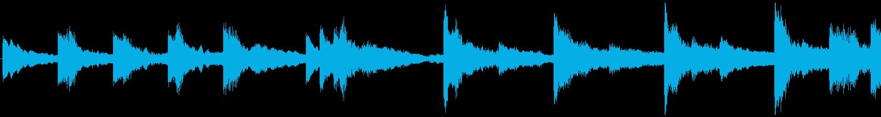 ハローウィン用のホラー曲-ループ1の再生済みの波形