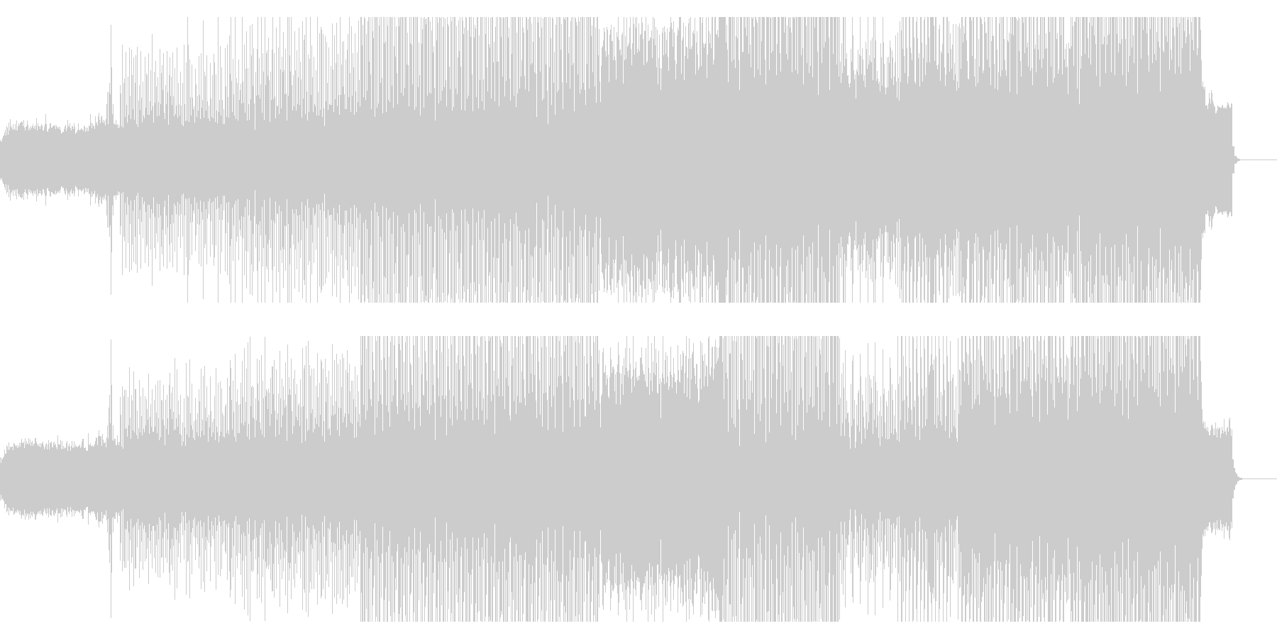 琴や和太鼓を使った和風のハウスの未再生の波形