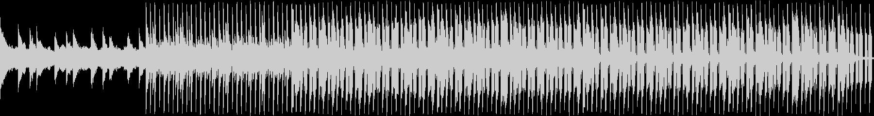 ピアノによる落ち着いたループ曲の未再生の波形