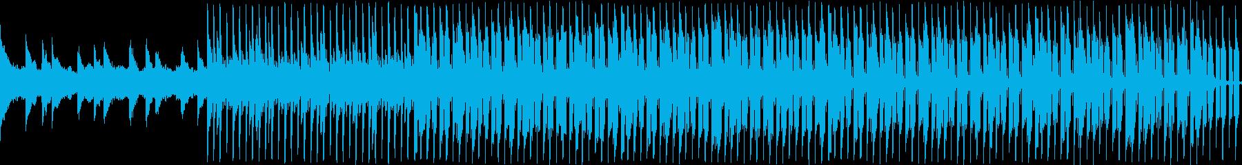 ピアノによる落ち着いたループ曲の再生済みの波形