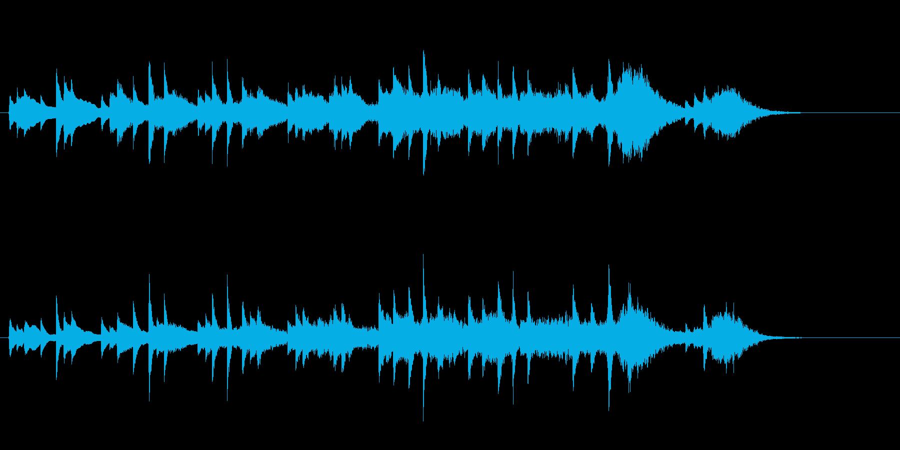 感動系ドラマのエンディングBGMの再生済みの波形