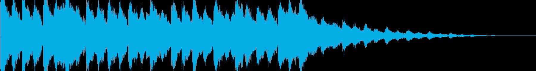 クリスマスジングルの再生済みの波形