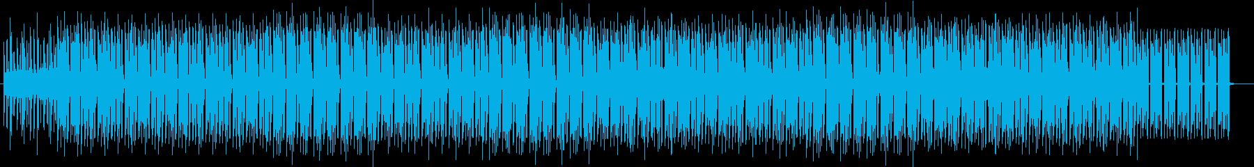 ミニマルテクノのクラブミュージックの再生済みの波形