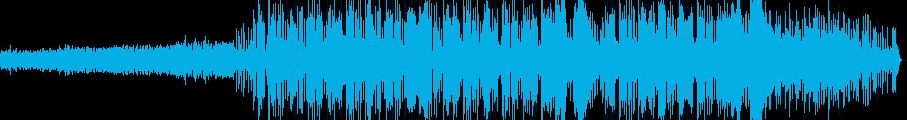 クリスピーなギターのブルージーロックの再生済みの波形