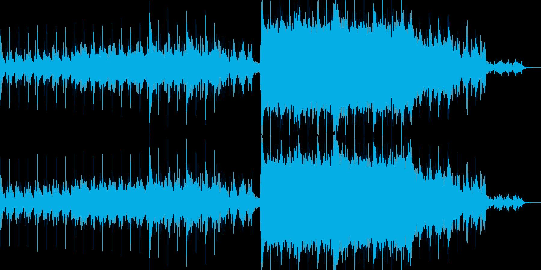 壮大なイメージの和風テイストの曲の再生済みの波形