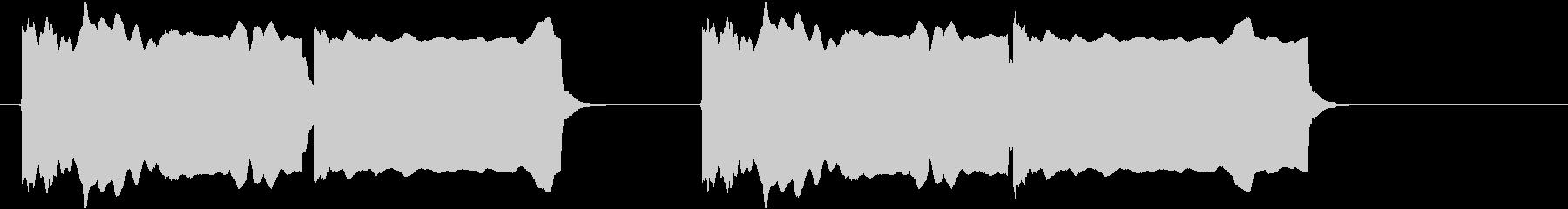 豆腐屋さん 昭和の豆腐屋のチャルメラ音の未再生の波形