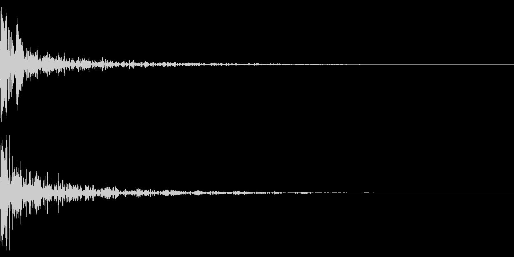 ドーン-25-1(インパクト音)の未再生の波形