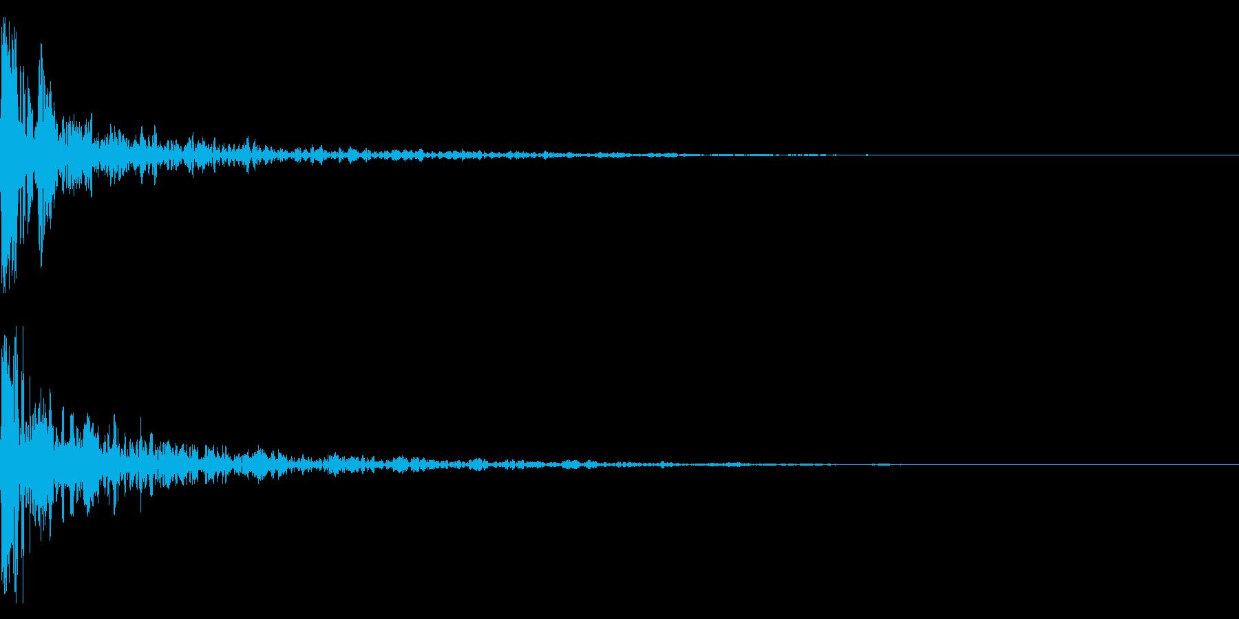 ドーン-25-1(インパクト音)の再生済みの波形