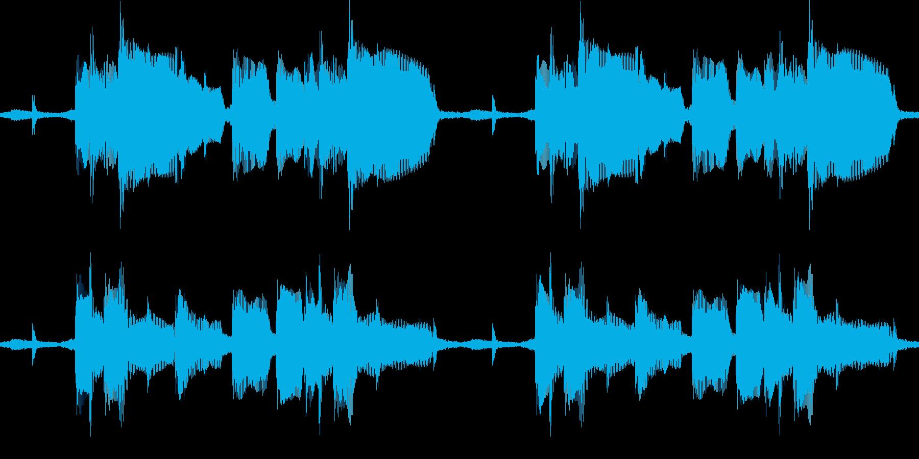 ジャジーなサウンドループの再生済みの波形
