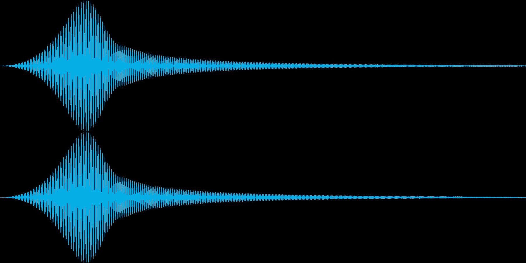 ピュイ 柔らかいカーソル音 UIの再生済みの波形