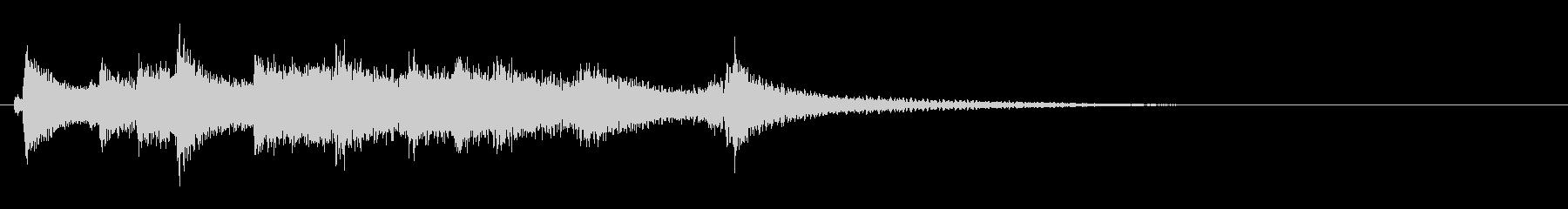和風 シンプル 琴のジングル1の未再生の波形