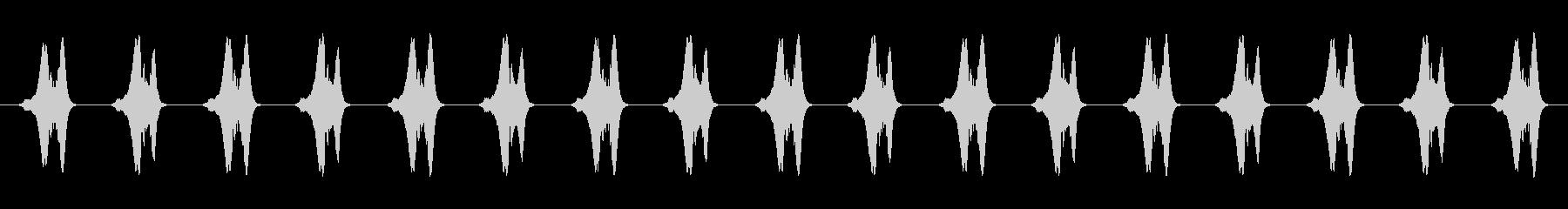 メッセージ表示音(ピピピピ)の未再生の波形