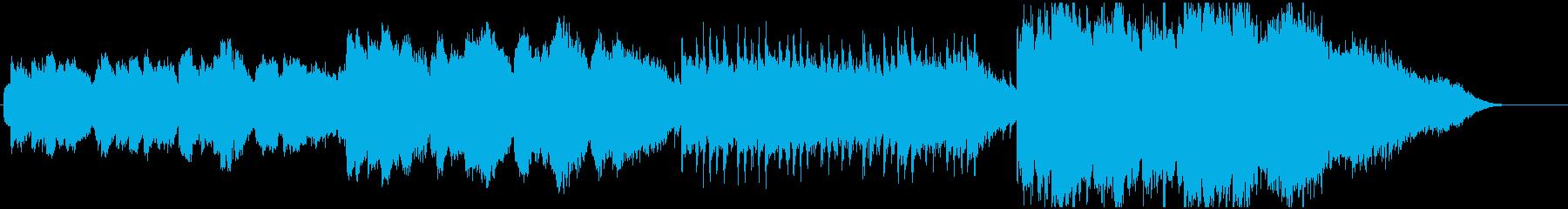 清らかで透明感のあるBGMの再生済みの波形