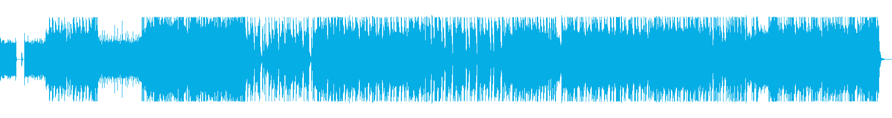パワフルで力強いハードロックの再生済みの波形