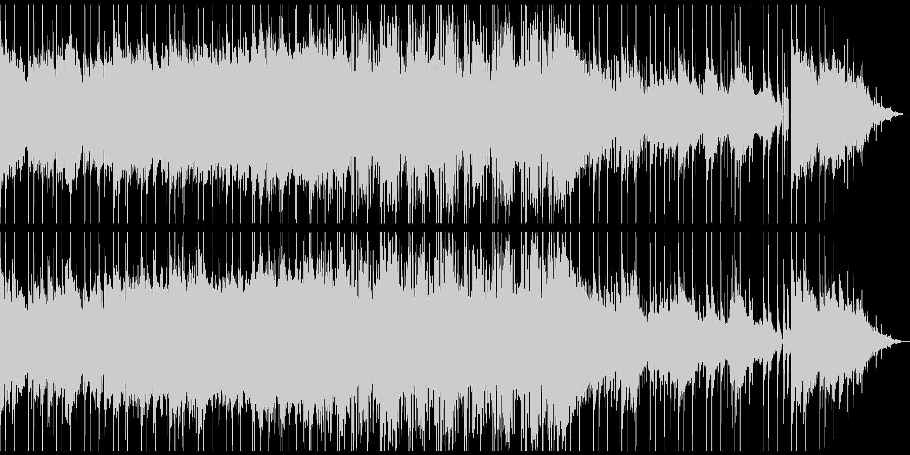 電子音を用いた幻想的で壮大なアンビエントの未再生の波形