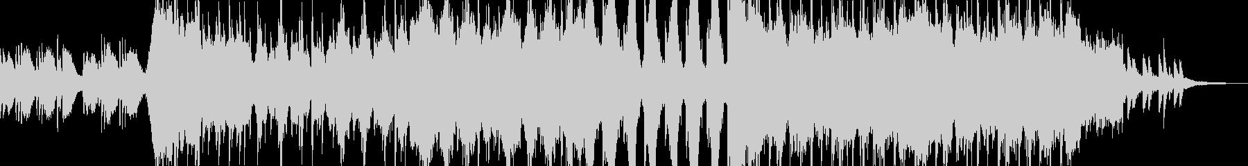 壮大な映像向け和風BGMの未再生の波形