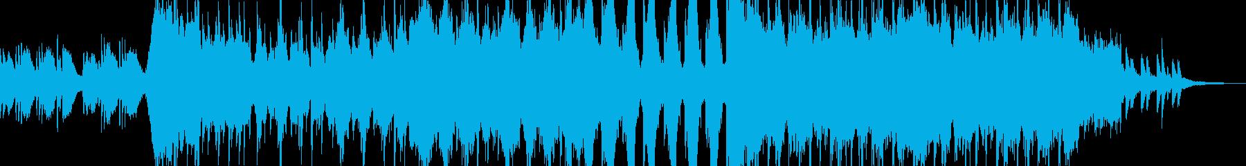 壮大な映像向け和風BGMの再生済みの波形