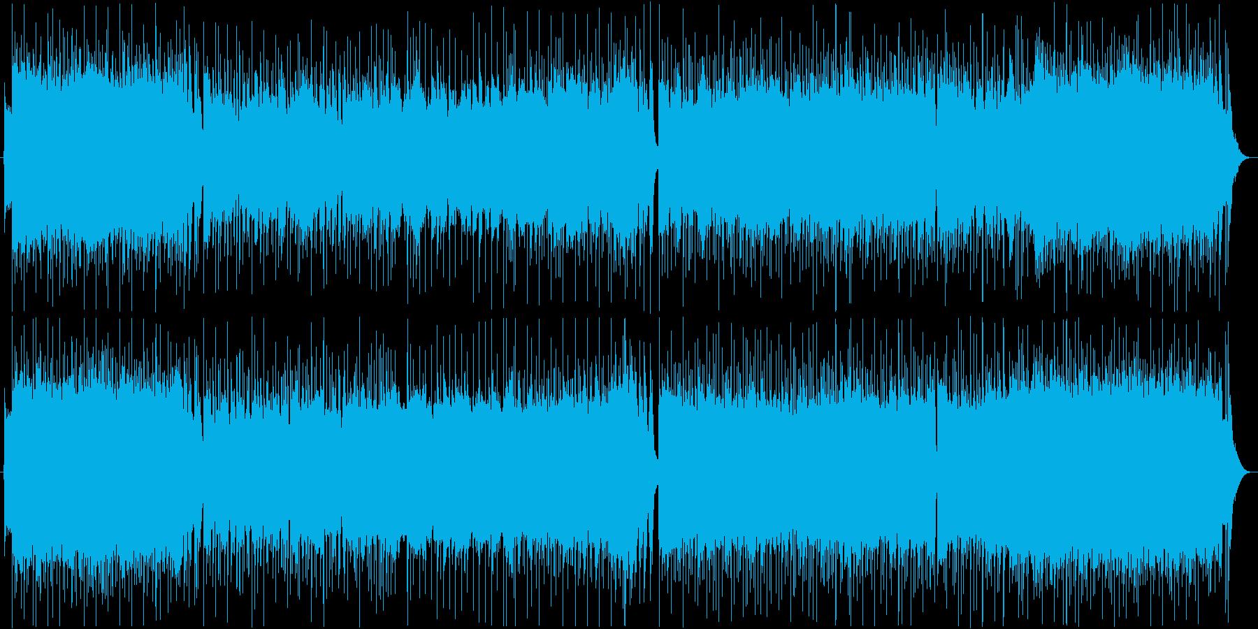 バトルに合うメタルなアニソン風BGMの再生済みの波形