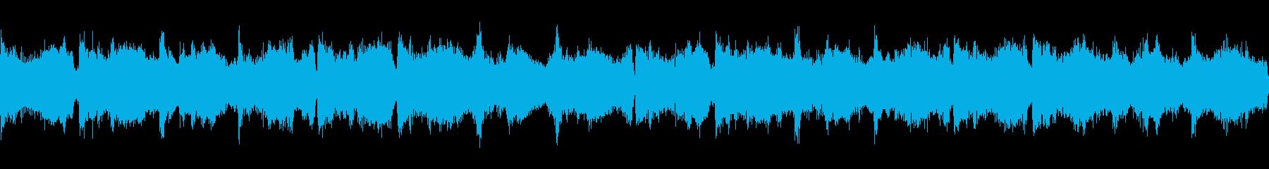 幻想的で落ち着いたアンビエント4 ループの再生済みの波形