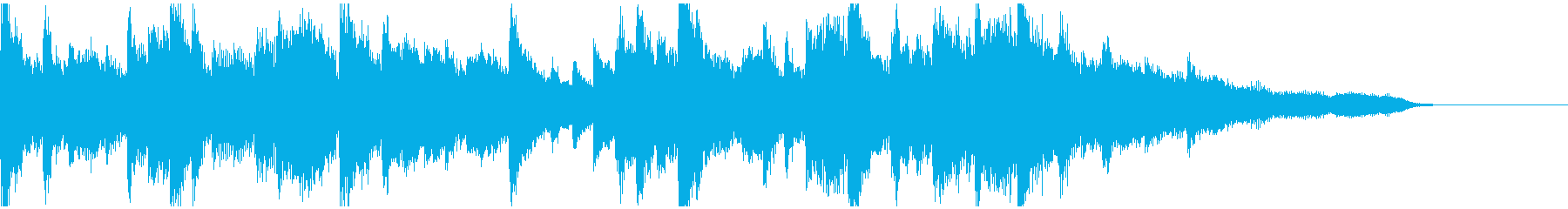 穏やか・幻想的な和風ジングル(尺八付)の再生済みの波形