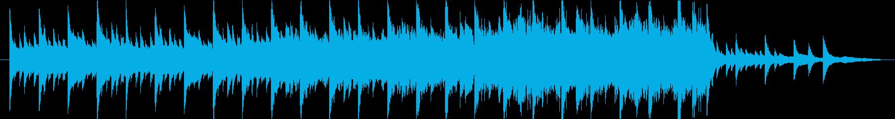 感情的な映画音楽の楽譜の再生済みの波形