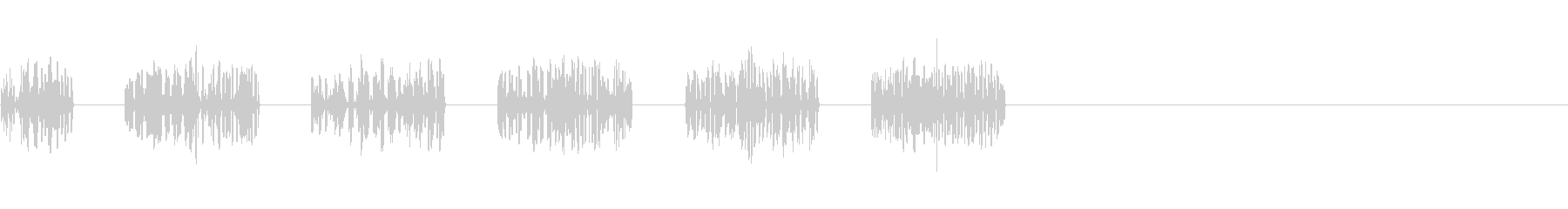 逃走 足音 移動 8ビットの未再生の波形