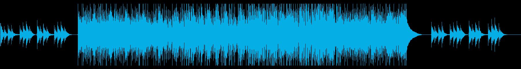 学校のチャイムを引用したアコースティックの再生済みの波形