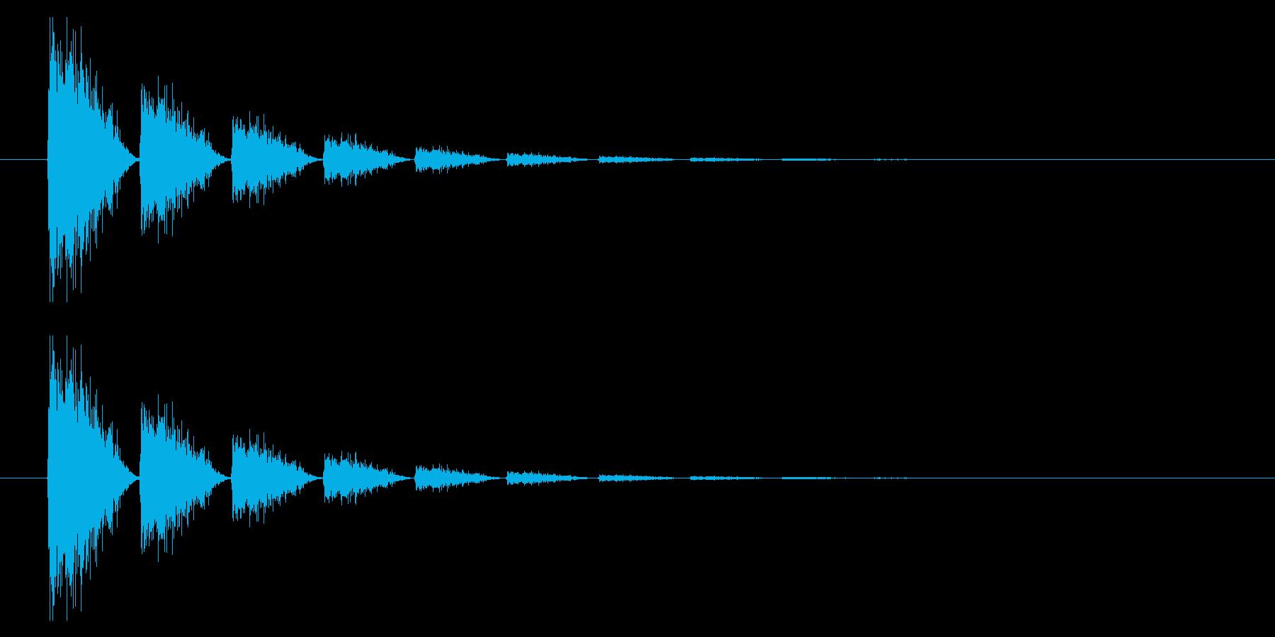 打撃07-6の再生済みの波形
