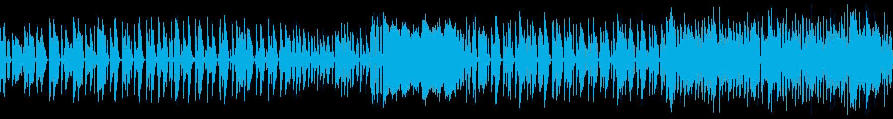 ピアノメインの可愛い雰囲気の曲の再生済みの波形