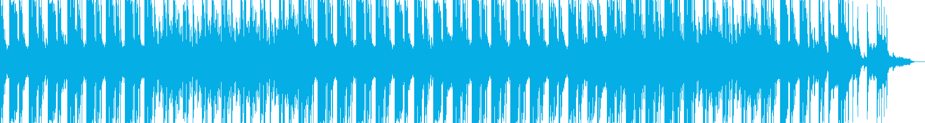 シンセリフと綺麗なピアノのEDMサウンドの再生済みの波形