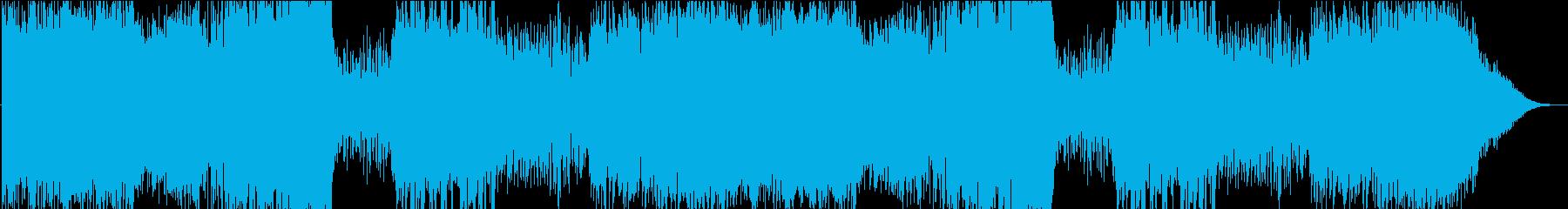 迫力のあるオーケストラの戦闘BGMの再生済みの波形