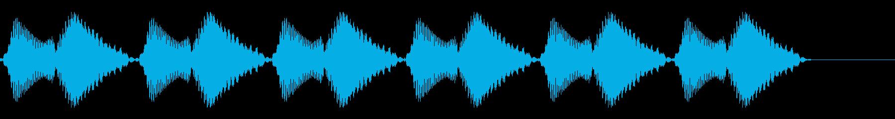 ブブブブブブ(携帯・スマホのバイブ音)の再生済みの波形