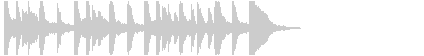 かわいいピアノジングル/場面転換の未再生の波形