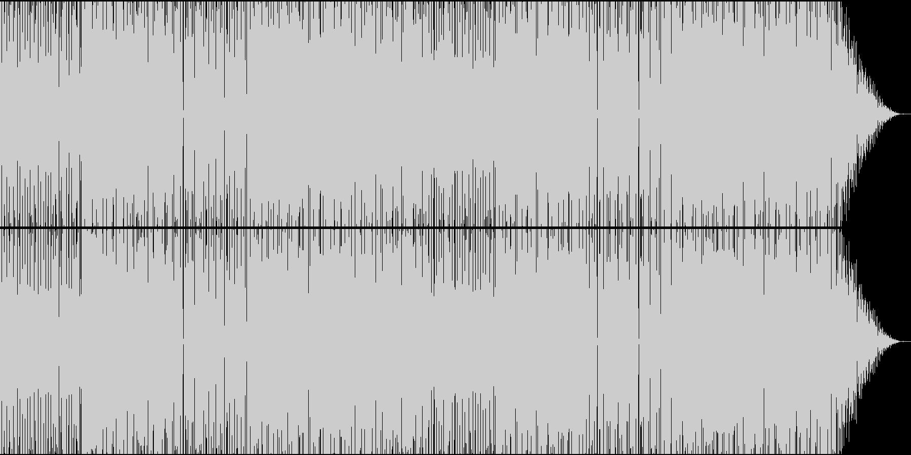 物悲しいシンセサイザーが特徴のBGMの未再生の波形
